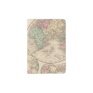 Mapa de los hemisferios del mundo de Mitchell Porta Pasaporte