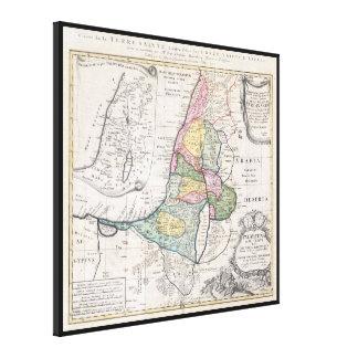 Mapa de los herederos de Homann - 1750 Impresiones En Lona