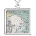 Mapa de los mares polares colgante cuadrado