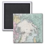 Mapa de los mares polares imán cuadrado