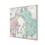 Mapa de los mares polares impresión en tela