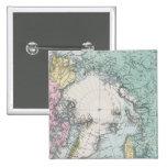 Mapa de los mares polares pin cuadrada 5 cm
