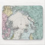 Mapa de los mares polares tapete de ratón