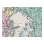 Mapa de los mares polares tarjetas postales