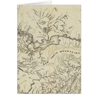 Mapa de los nuevos campos del oro de Alaska Tarjeta