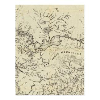 Mapa de los nuevos campos del oro de Alaska Tarjeta Postal