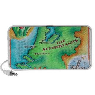 Mapa de los Países Bajos iPod Altavoces