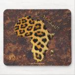 Mapa de los puntos del leopardo de la fauna de ÁFR Alfombrillas De Raton