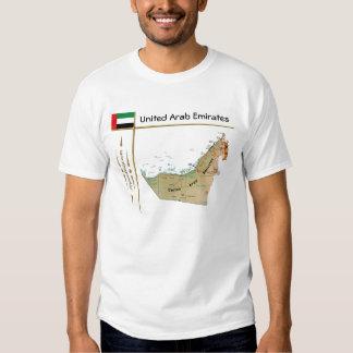 Mapa de los UAE + Bandera + Camiseta del título Polera