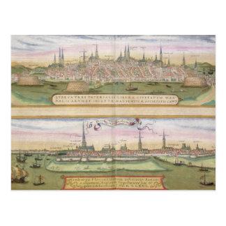 Mapa de Lubeck y de Hamburgo, de 'Civitates Orbis  Postal