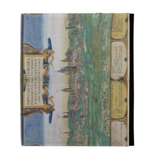 """Mapa de Lublin, de """"Civitates Orbis Terrarum"""" cerc"""