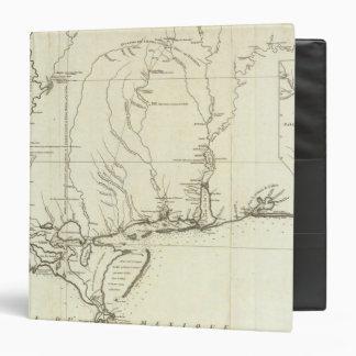"Mapa de Luisiana Carpeta 1 1/2"""