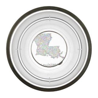 Mapa de Luisiana Cuenco Acrílico