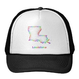 Mapa de Luisiana del arco iris Gorros Bordados