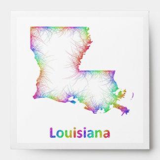 Mapa de Luisiana del arco iris Sobres