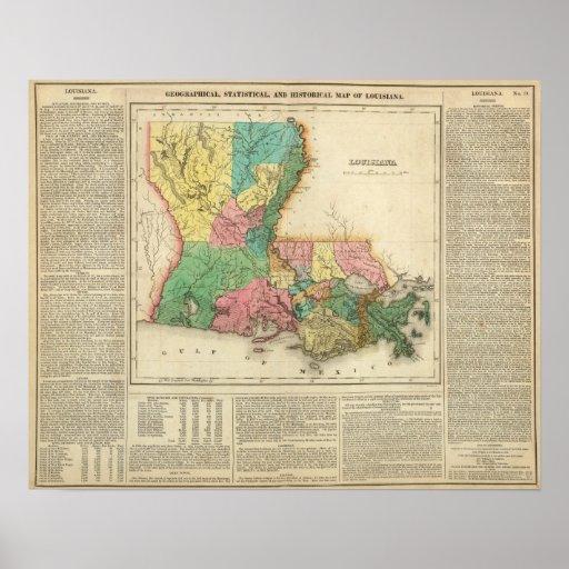Mapa de Luisiana Impresiones