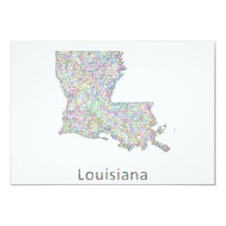 """Mapa de Luisiana Invitación 3.5"""" X 5"""""""