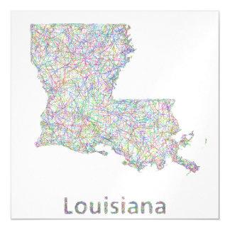 Mapa de Luisiana Invitaciones Magnéticas
