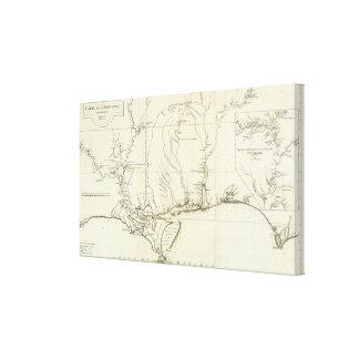 Mapa de Luisiana Impresión En Lona