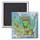 Mapa de Luisiana los E.E.U.U. Imán
