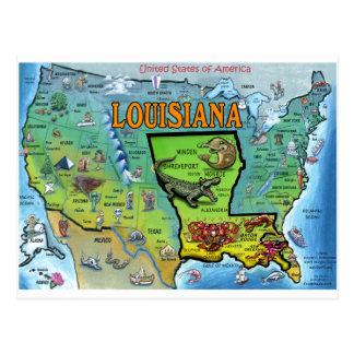 Mapa de Luisiana los E E U U
