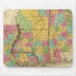 Mapa de Luisiana Mississippi y de Alabama Tapetes De Raton