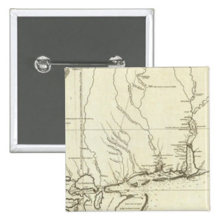Mapa de Luisiana Pin Cuadrada 5 Cm