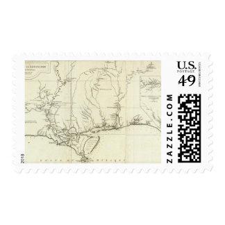 Mapa de Luisiana Sello