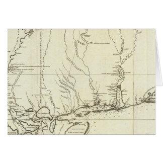 Mapa de Luisiana Tarjeta De Felicitación