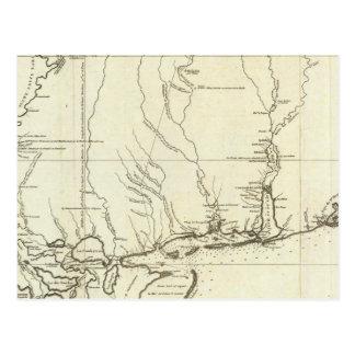Mapa de Luisiana Tarjetas Postales