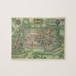 "mapa de Luneburg, de ""Civitates Orbis Terrarum"" b Rompecabeza Con Fotos"
