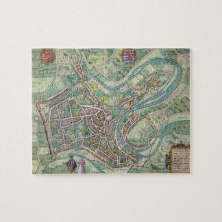 Mapa de Luxemburgo, de 'Civitates Orbis Terrarum Puzzles Con Fotos