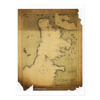 Mapa de Luzón Filipinas 1902 de la bahía de Subig  Tarjeta Postal