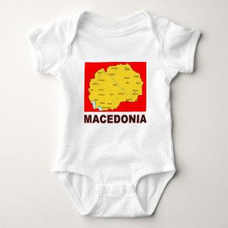 Mapa de Macedonia Body Para Bebé