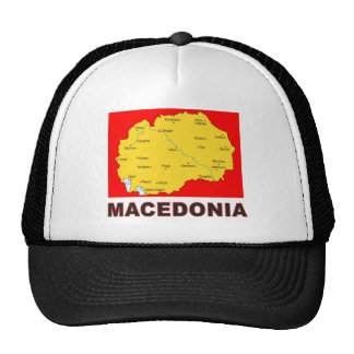 Mapa de Macedonia Gorra