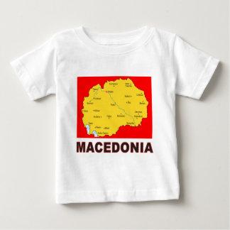 Mapa de Macedonia Playera De Bebé