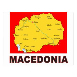 Mapa de Macedonia Tarjetas Postales