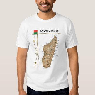 Mapa de Madagascar + Bandera + Camiseta del título Playeras