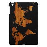 mapa de madera iPad mini protector
