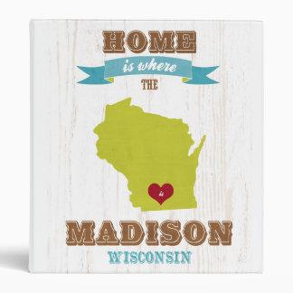 Mapa de Madison Wisconsin - casero está donde el