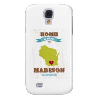 Mapa de Madison, Wisconsin - casero está donde el  Carcasa Para Galaxy S4