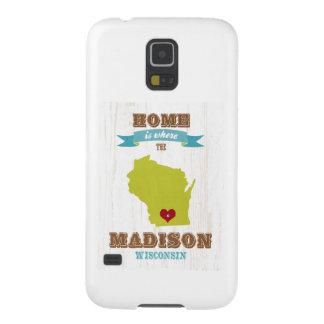 Mapa de Madison, Wisconsin - casero está donde el Funda Galaxy S5