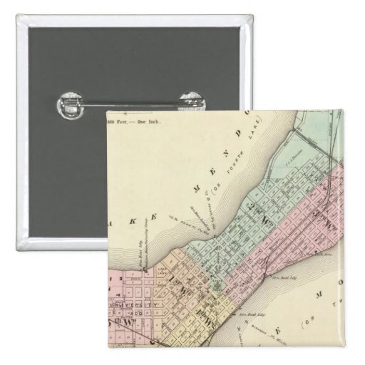 Mapa de Madison, Wisconsin Pins