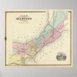 Mapa de Madison, Wisconsin Poster
