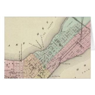 Mapa de Madison, Wisconsin Tarjeton
