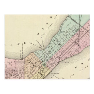 Mapa de Madison, Wisconsin Tarjeta Postal