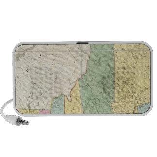 Mapa de Maine New Hampshire Vermont Laptop Altavoces