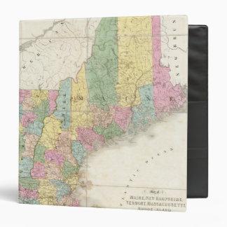 Mapa de Maine, New Hampshire, Vermont