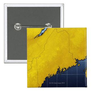 Mapa de Maine Pin Cuadrada 5 Cm