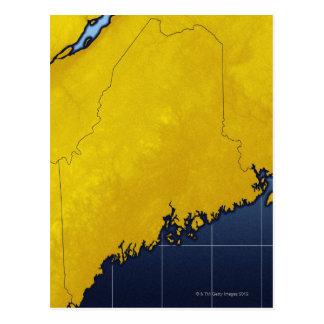 Mapa de Maine Postales